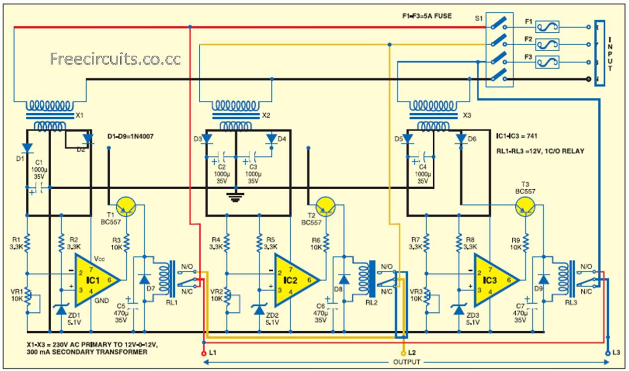 Circuit Project Wordpress Everything About Wiring Diagram La1800 Portable Am Fm Radio Design Electronic Of Automatic Phase Changer Introduction Led Projects Silhouette Cameo