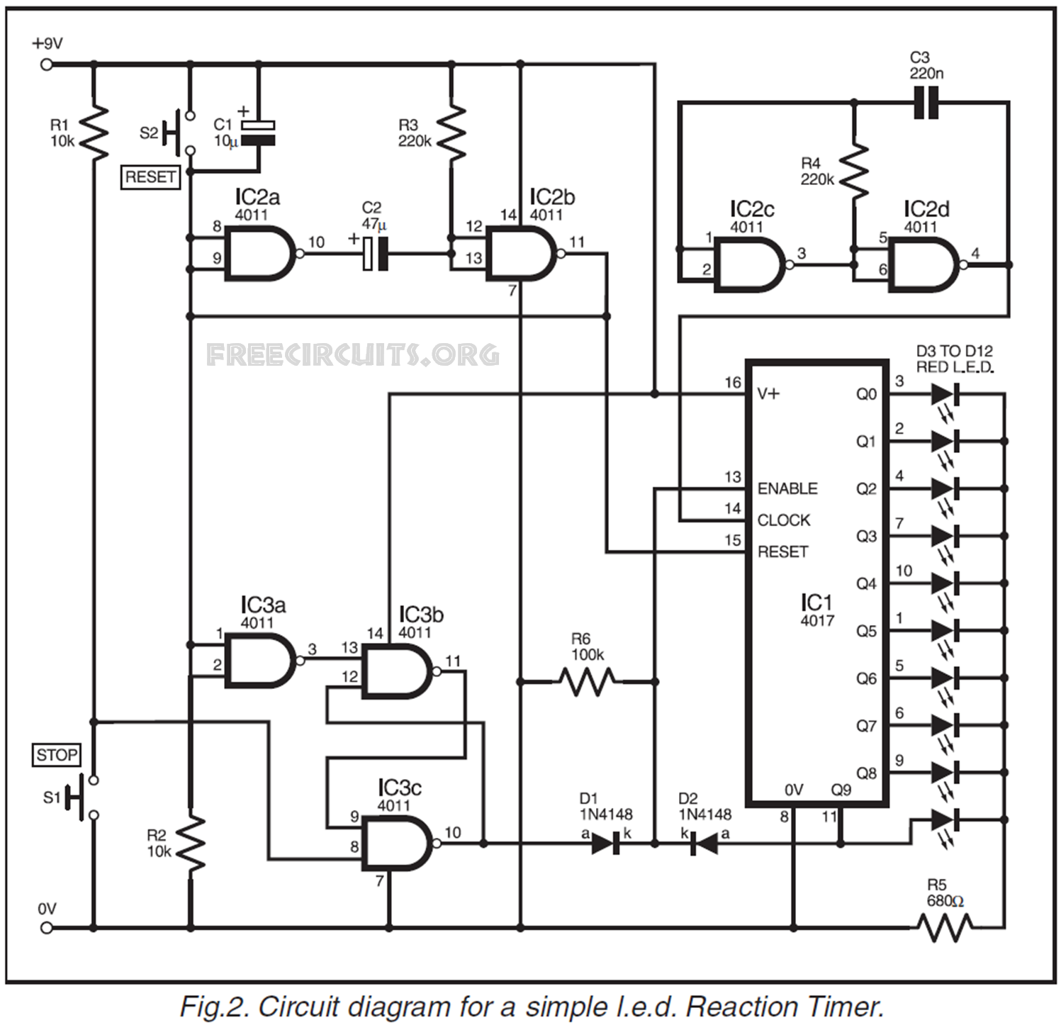 l t dol starter circuit diagram l e d circuit diagram